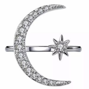 fancy fashions Jewelry - Silver crescent moon and star ring